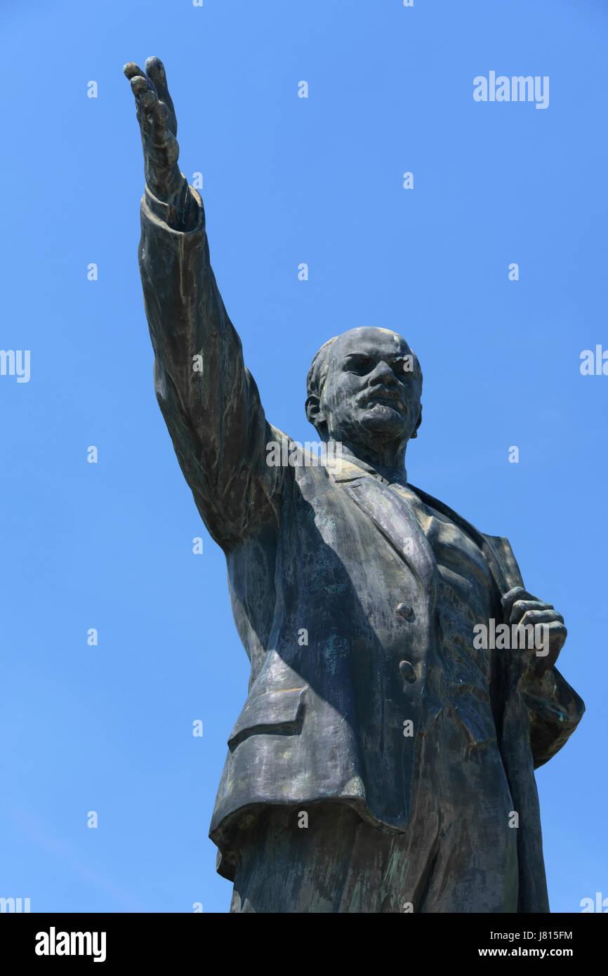 Memento Park, Budapest, Hungary. statue of Lenin. - Stock Image