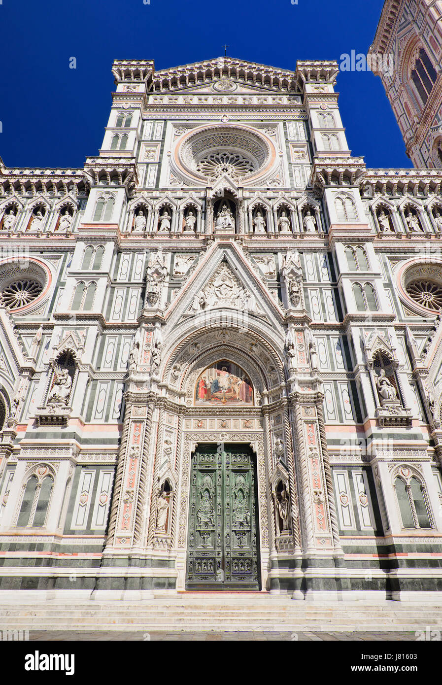 Italy, Tuscany, Florence, Duomo or Cathedral also known as Santa Maria del Fiorel, Doorway. - Stock Image