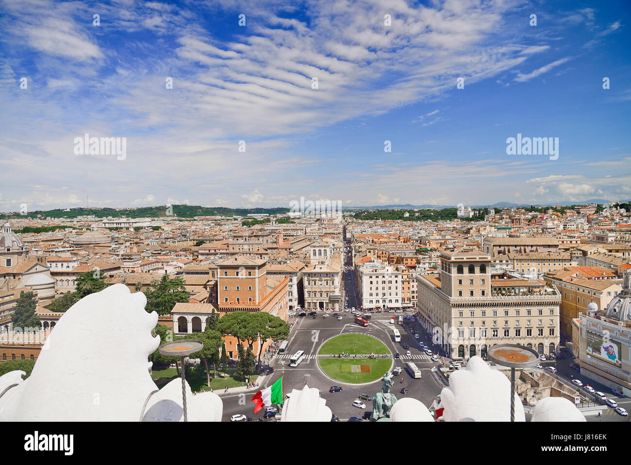 Italy Rome View From The Terrace Of The Vittorio Emanuele