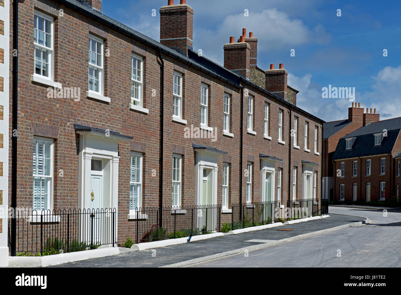 Poundbury, near Dorchester, Dorset, England UK - Stock Image