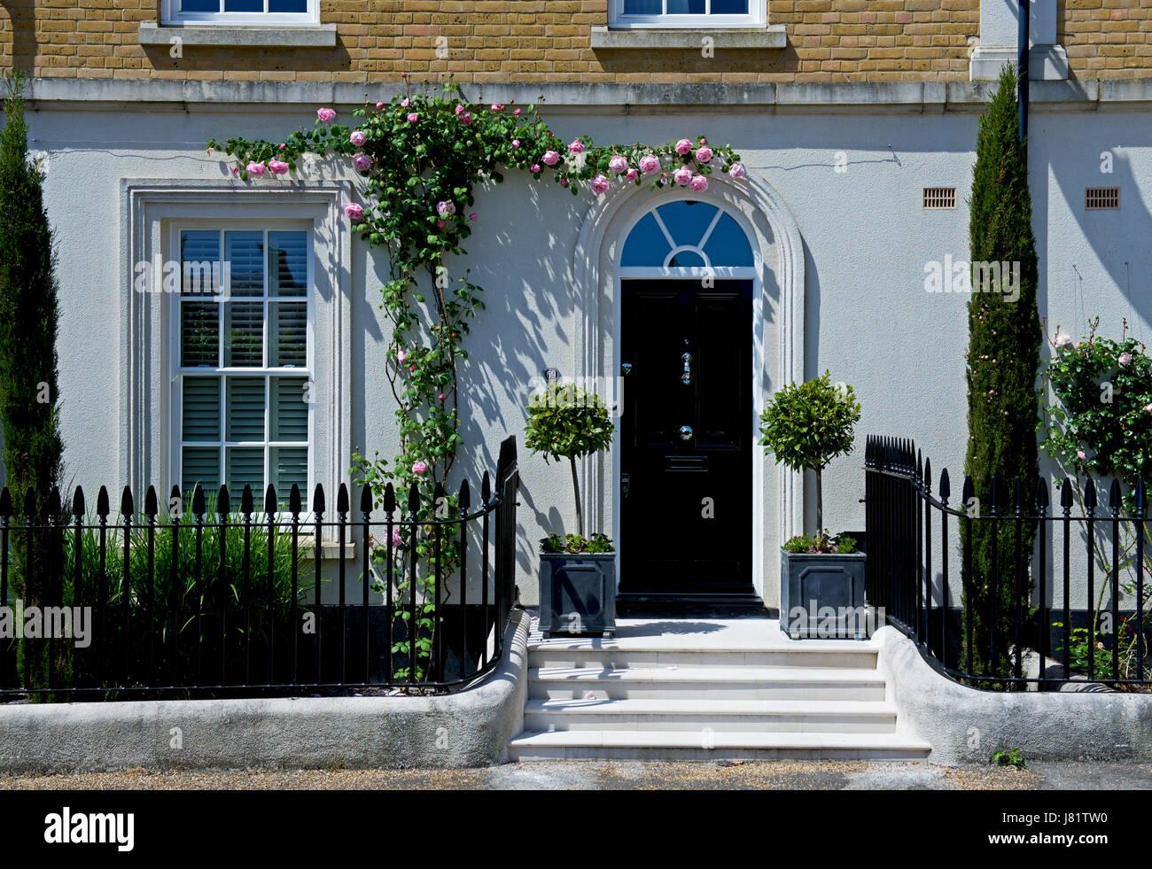 House in Poundbury, near Dorchester, Dorset, England UK - Stock Image