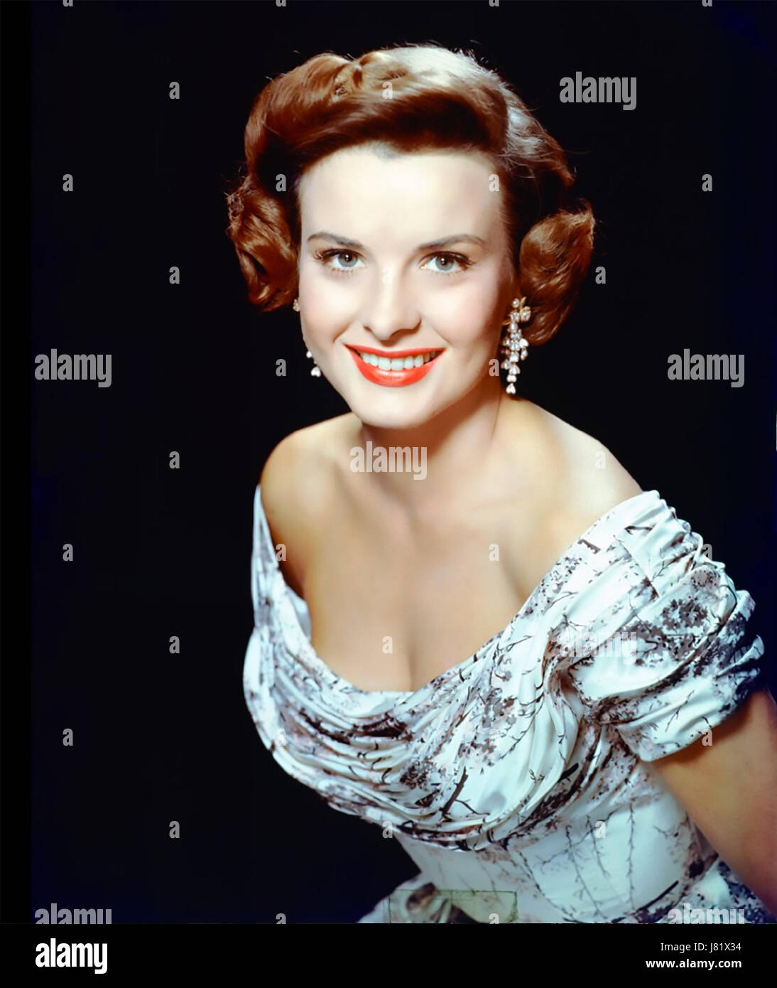 JEAN PETERS (1926-2000) US film actress about 1953 - Stock Image