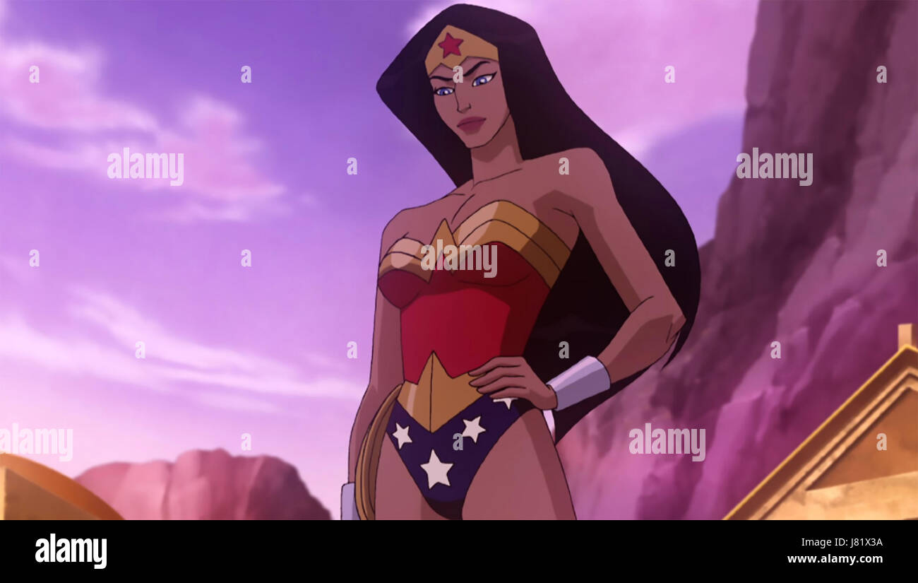WONDER WOMAN 2009 DC Comics/Warner Bros animation - Stock Image