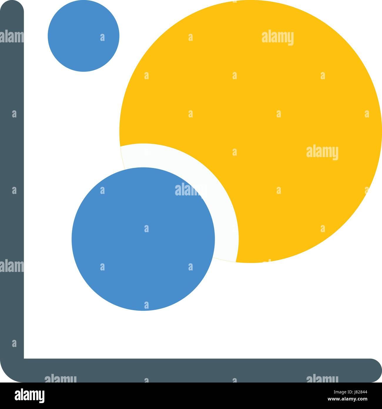 bubble graph - Stock Image