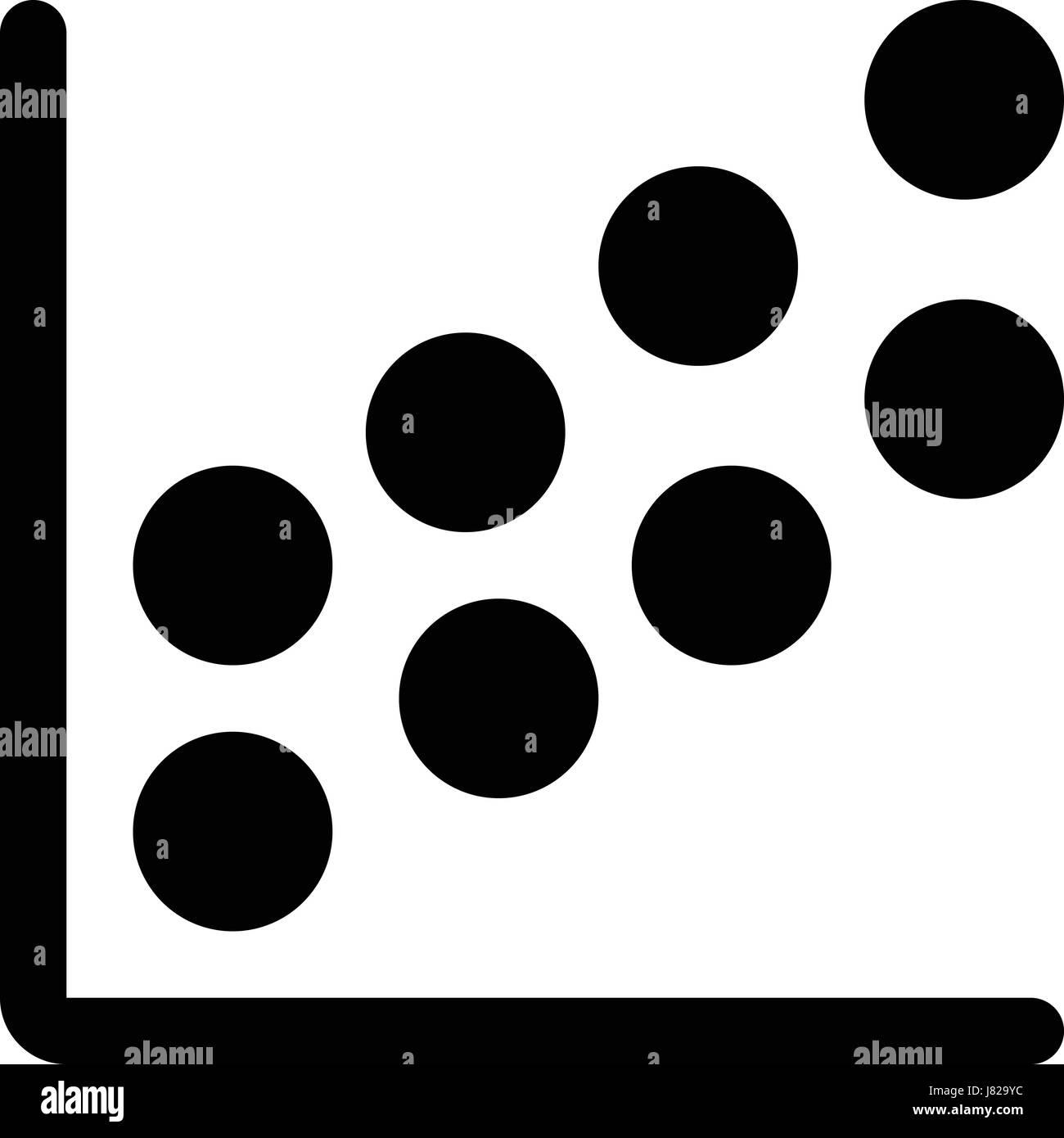 bubble chart - Stock Image