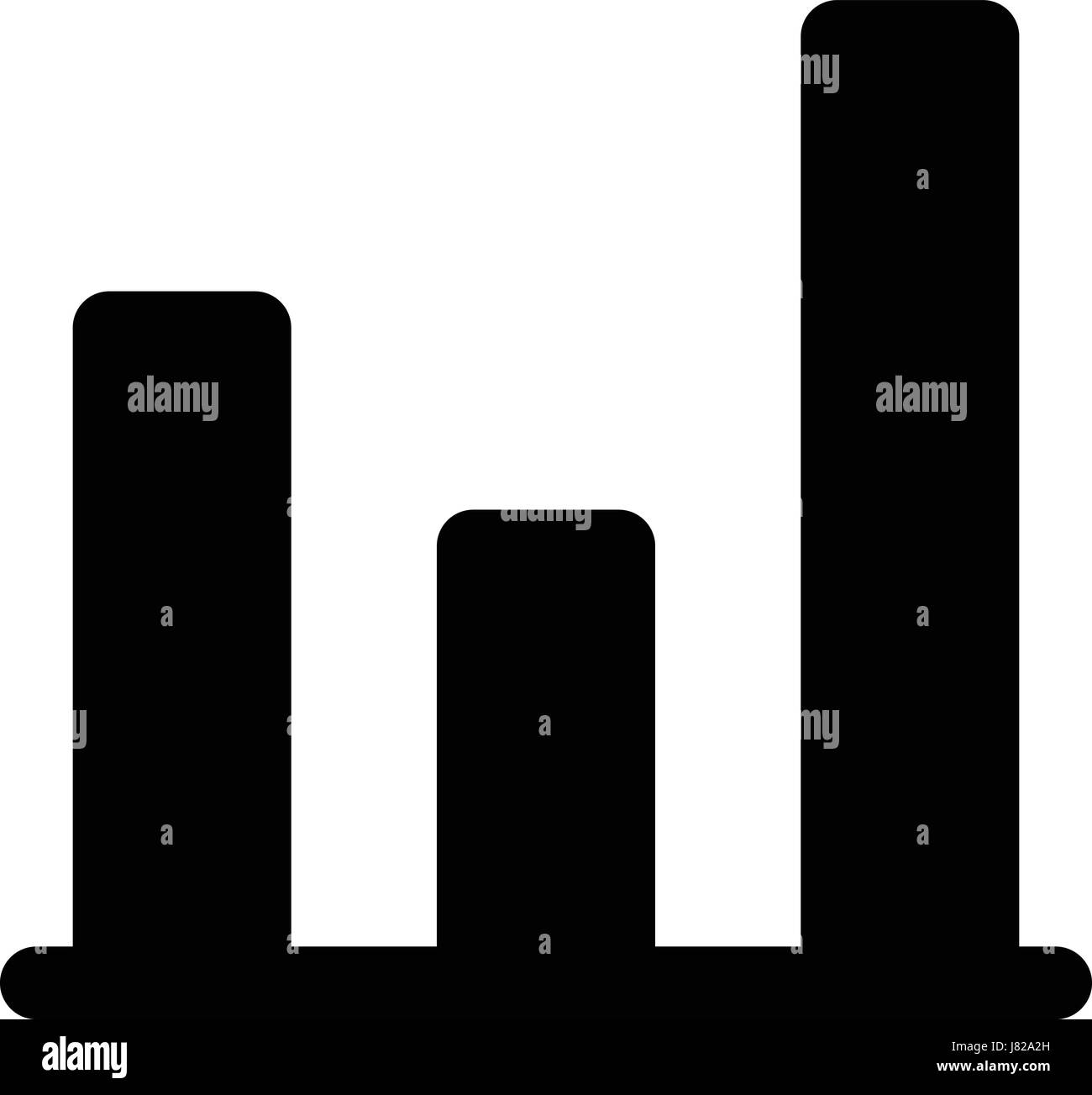inconsistent bar graph - Stock Image