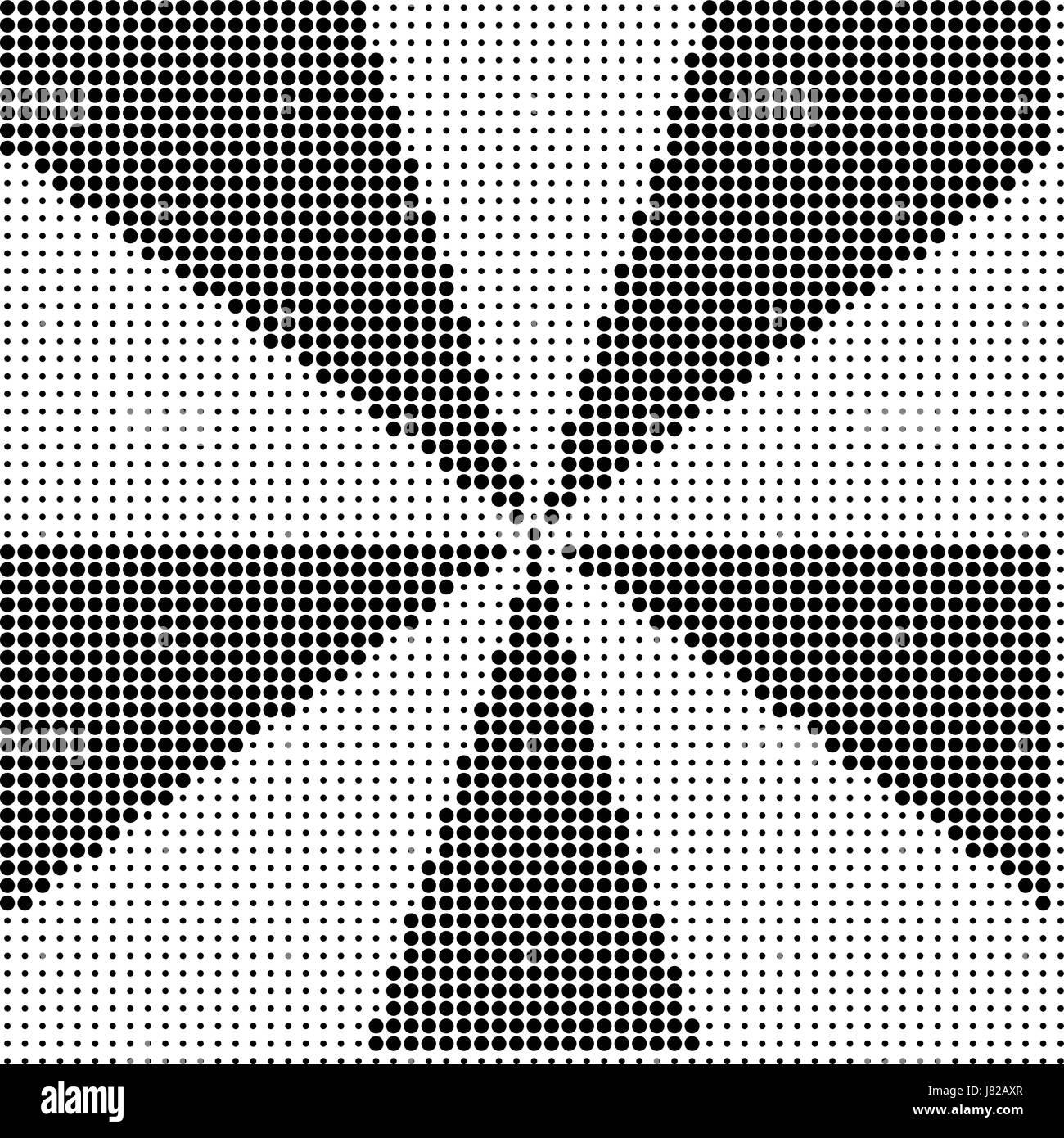 Abstract  halftone dot vector - Stock Image