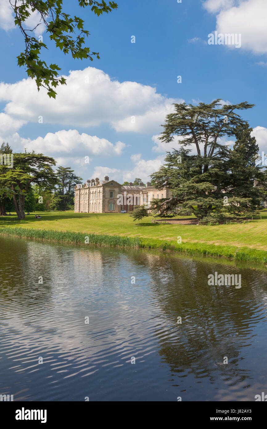 The house and garden of Compton Verney art gallery Warwickshire UK - Stock Image