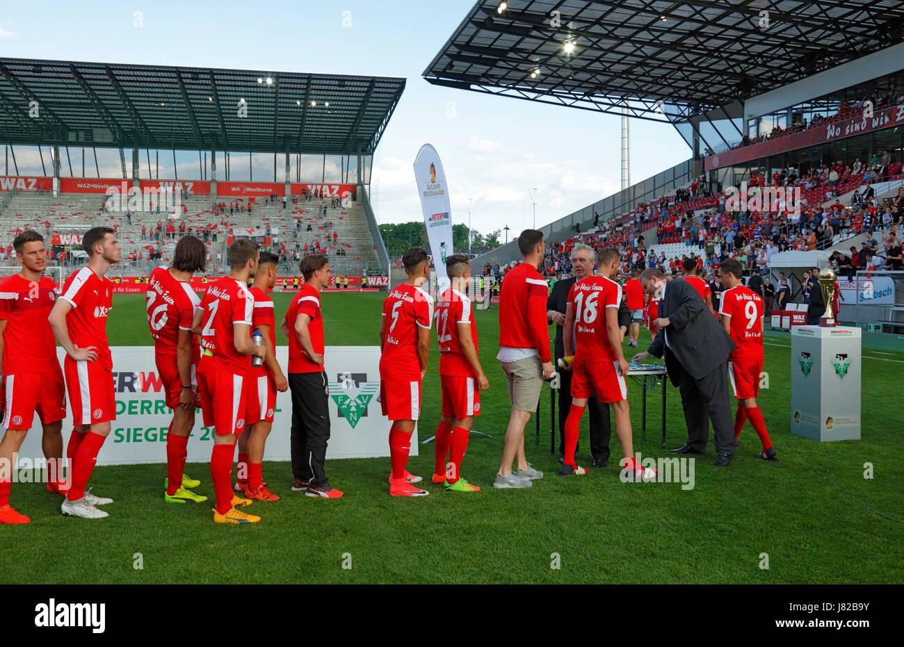 sports, football, Lower Rhine Cup, 2016/2017, final, Rot Weiss Essen vs MSV Duisburg 0:2, Stadium Essen, Hafenstrasse, - Stock Image