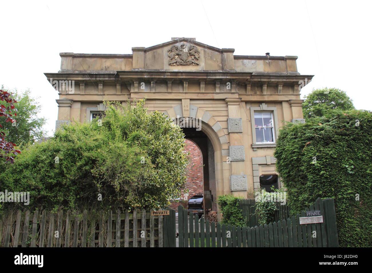 The Old Gaol, Montgomery, Montgomeryshire, Powys, Wales, Great Britain, United Kingdom, UK, Europe - Stock Image