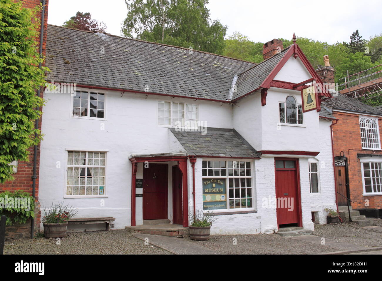 Old Bell Museum of local history, Arthur Street, Montgomery, Montgomeryshire, Powys, Wales, Great Britain, United - Stock Image