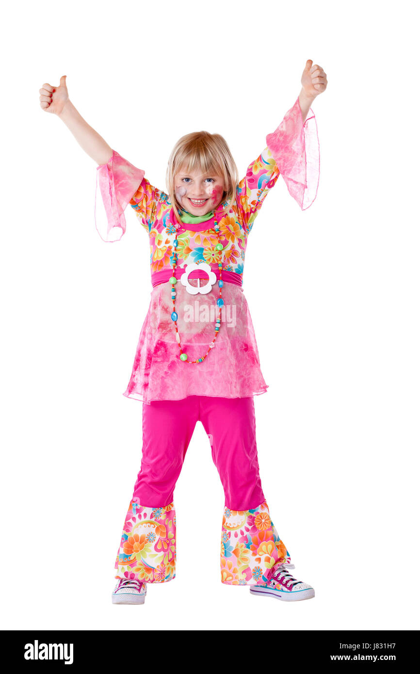 carnival costume revetment jubilation hippie child girl girls laugh laughs  sc 1 st  Alamy : hippie child costume  - Germanpascual.Com