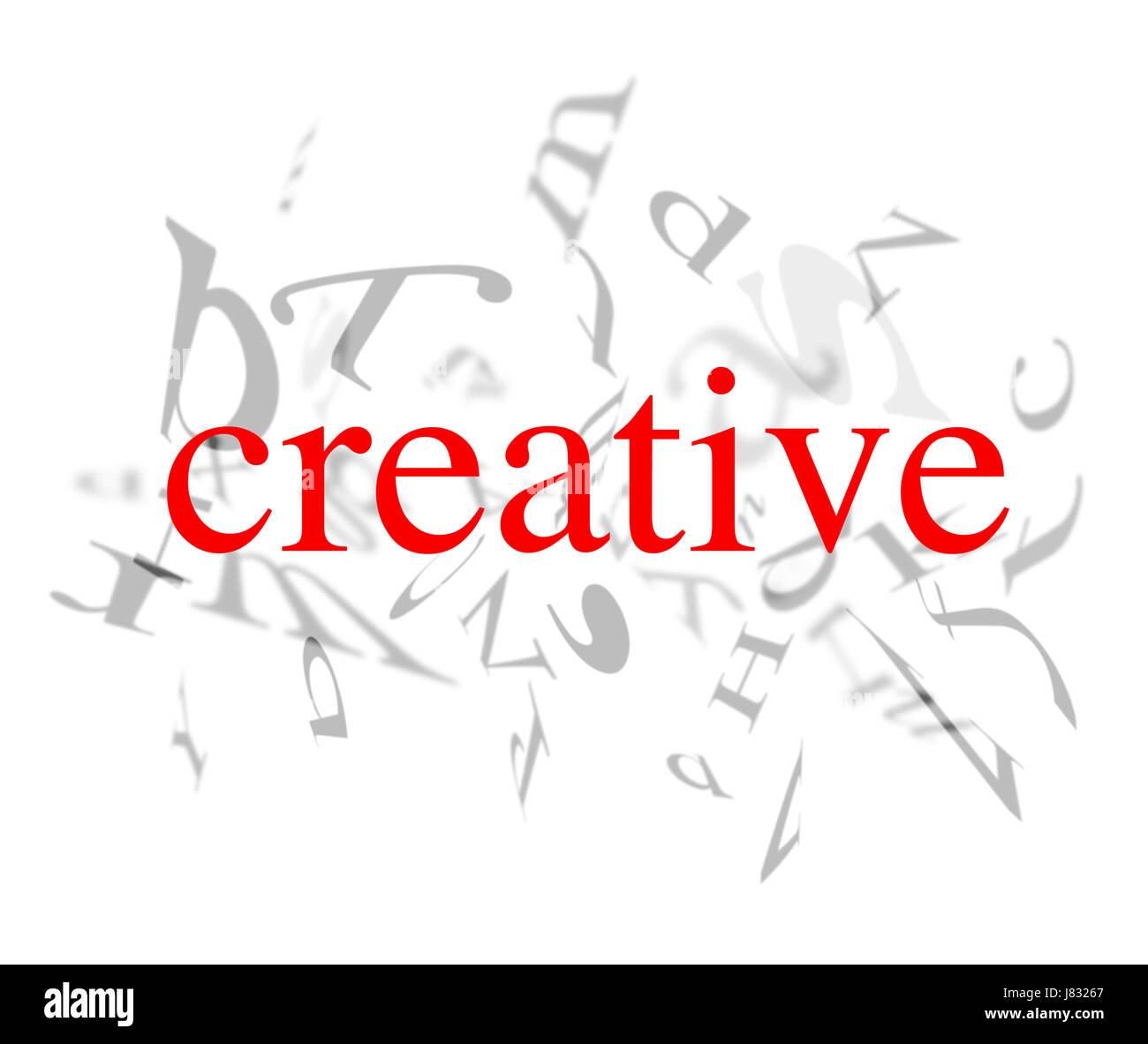 type model build art graphic modern modernity word writing font typography - Stock Image