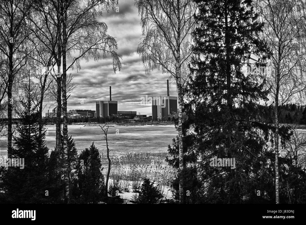 The nuclear power plant Olkiluoto in western Finland - Stock Image