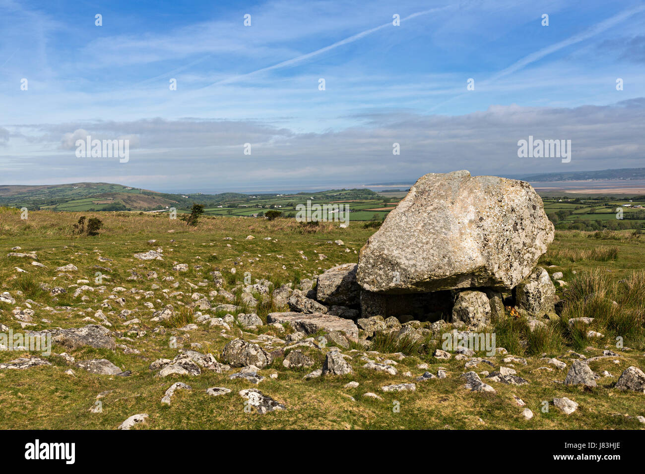 Arthur's Stone, neolithic burial chamber, Cefn Bryn, Gower, Wales, UK - Stock Image