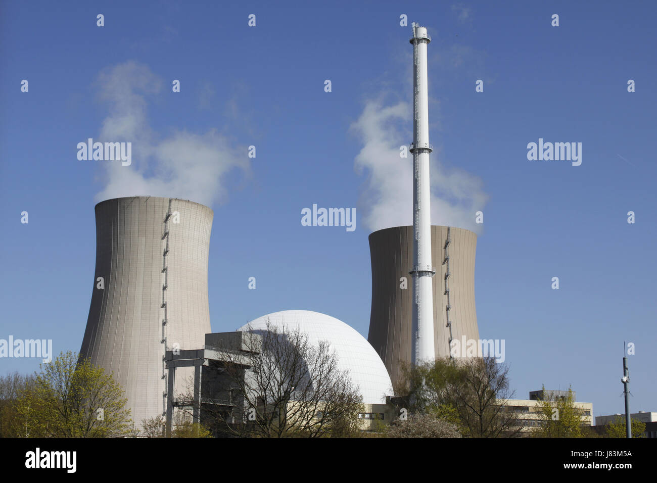 power station nuclear power station atomic energy environment enviroment power - Stock Image