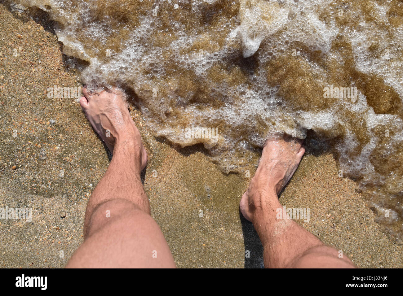 For Hairy men walking beach
