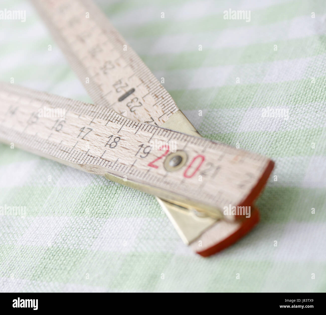 tool ruler hobby wooden centimeter carpenter measures carpenters measurements - Stock Image