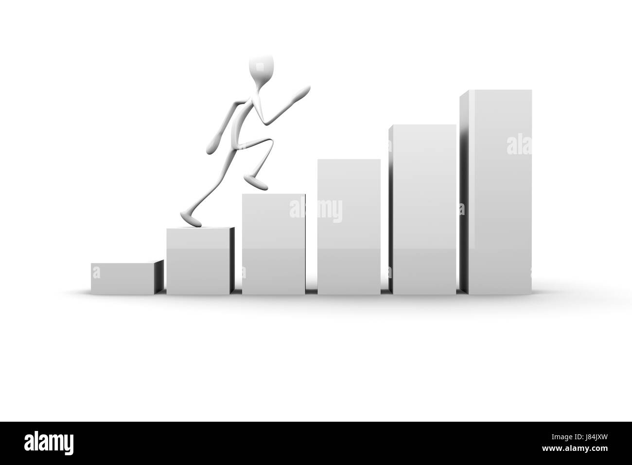 walk go going walking presentation successful succesful chart graphic person Stock Photo