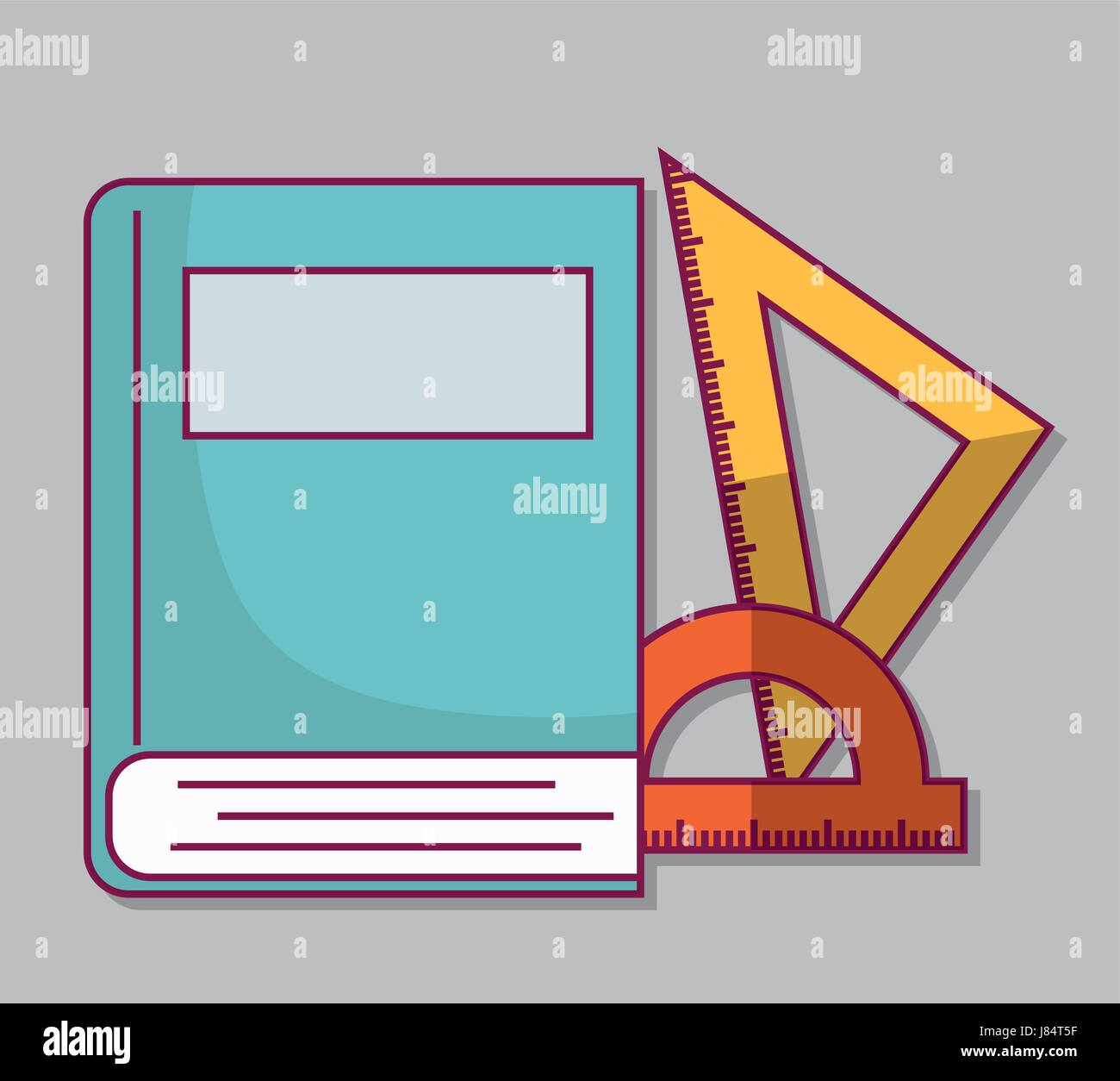 book and rulers icon - Stock Vector