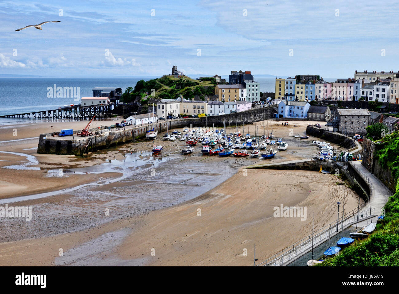 Tenby Harbour, Wales, UK. - Stock Image