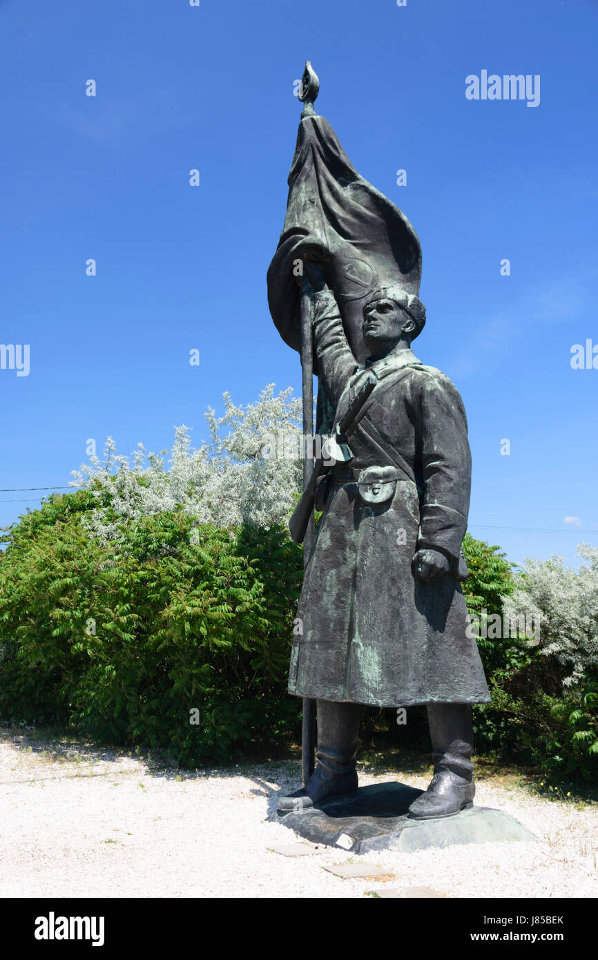 Memento Park, Budapest, Hungary. Red Army soldier statue - Stock Image
