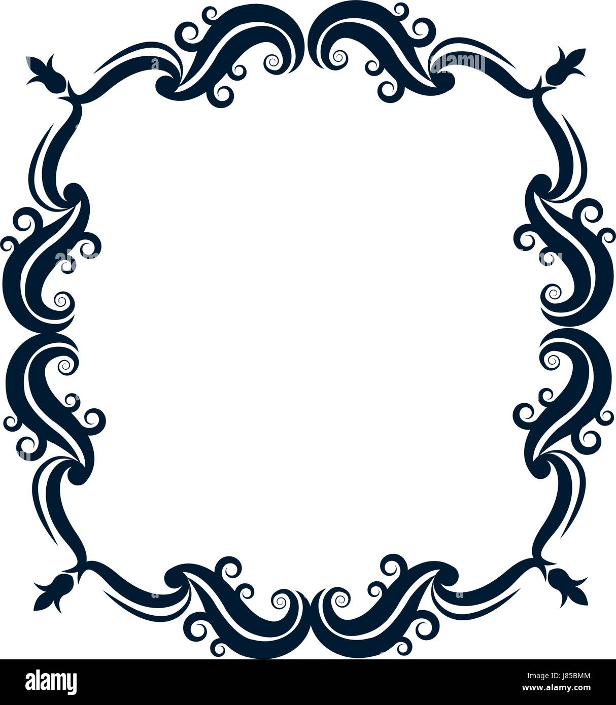vintage ornate wreath and scroll banner stock vector art