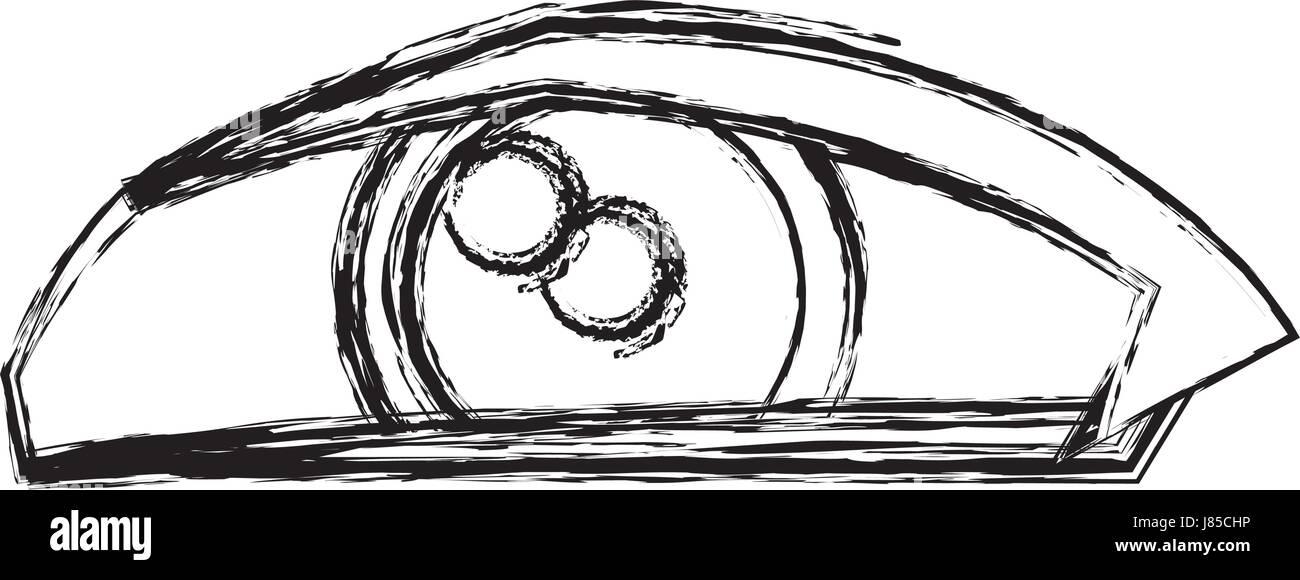 Cartoon Eye Human Look Watch Icon Stock Vector Image Art Alamy