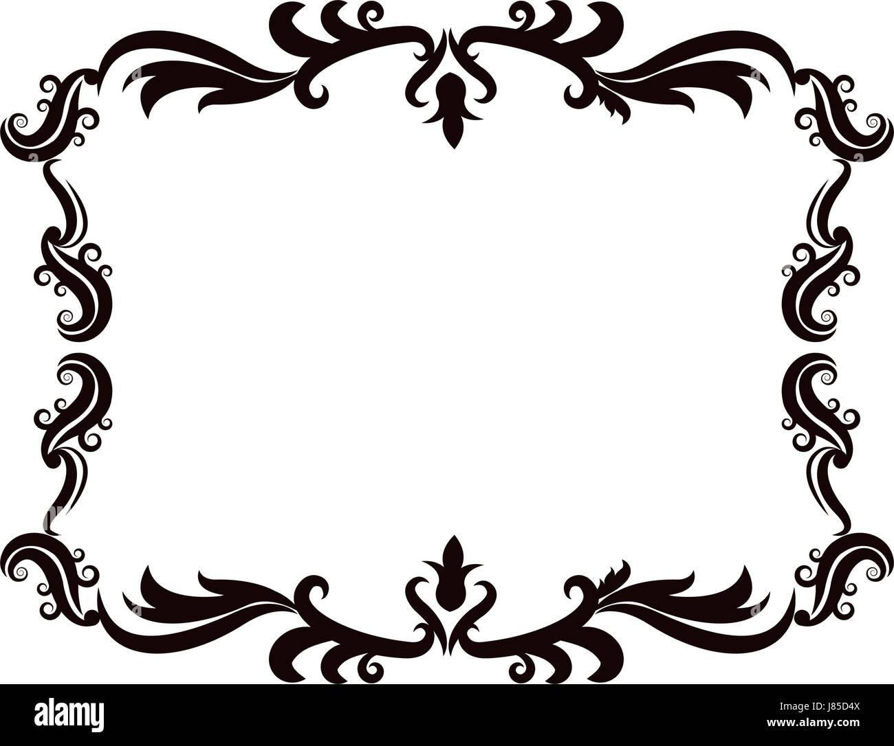 vintage baroque frame scroll floral ornament border retro pattern rh alamy com vintage decorative borders vector decorative borders vector file download free