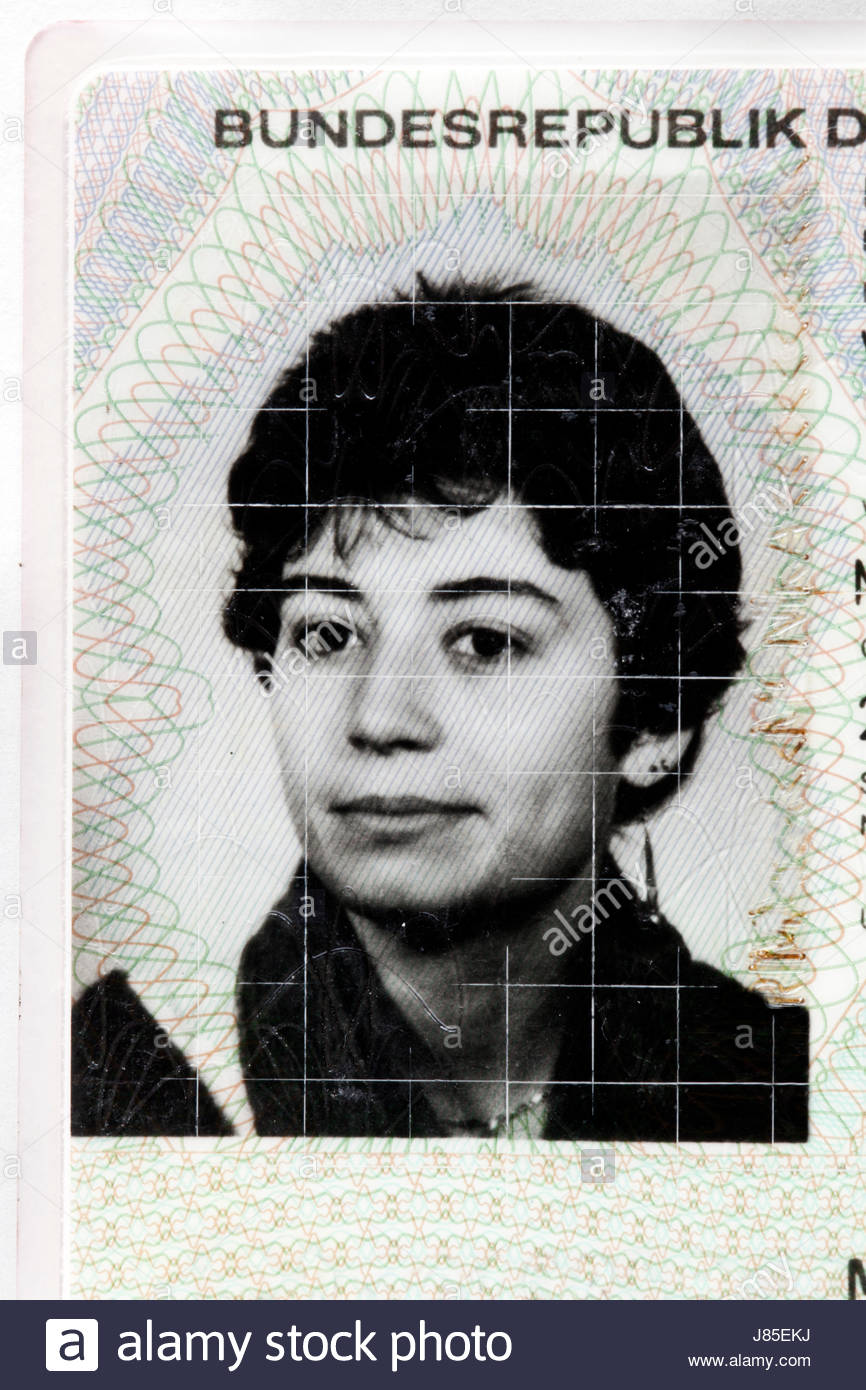 ID photo on a German residence card - Stock Image