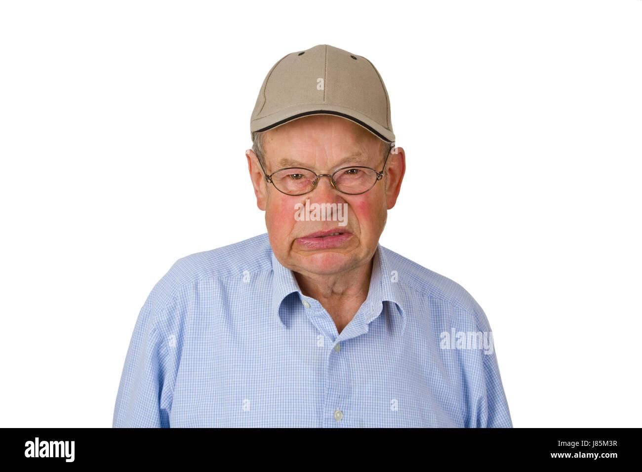 grandpa grandfather contrite grandfathers pensioner old age pensioner retiree - Stock Image