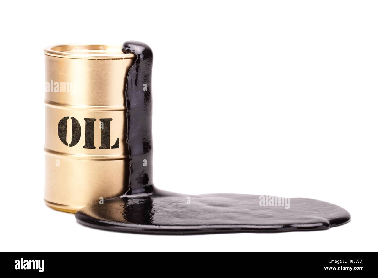 oil barrel gold 1 Stock Photo