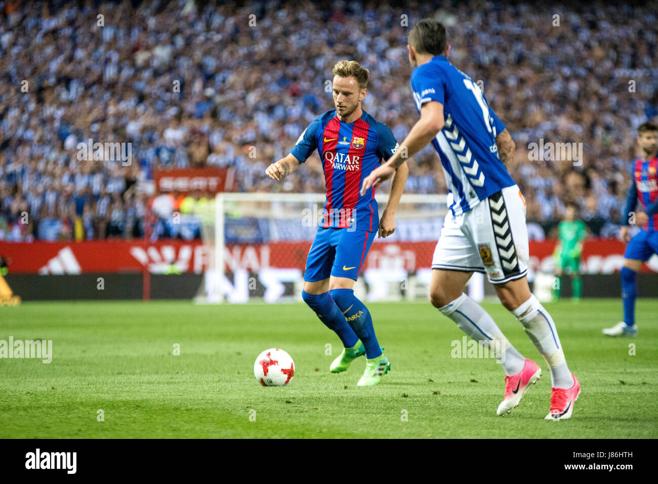 Madrid, Spain. 27th May, 2017. Ivan Rakitic (FC Barcelona) in action during the football match of Final of Spanish - Stock Image