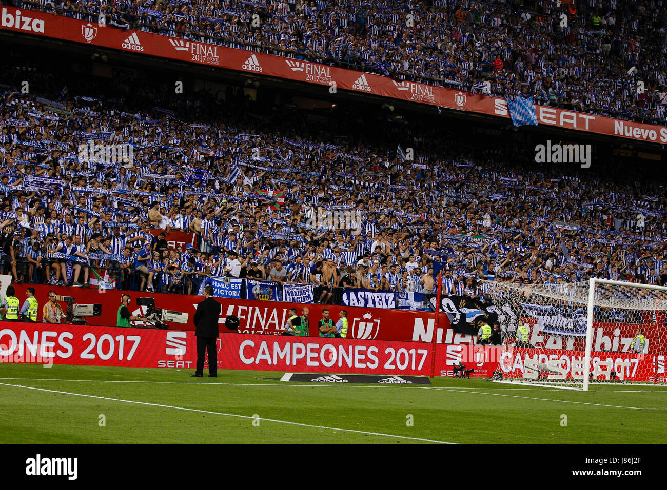 Copa del Rey between FC Barcelona vs Deportivo Alaves at the Vicente Calderon stadium in Madrid, Spain, May 27, - Stock Image
