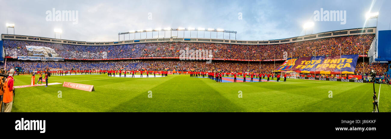 Madrid, Spain. 27th May, 2017. Panorama of Calderon Stadium during the football match of Final of Spanish King's - Stock Image