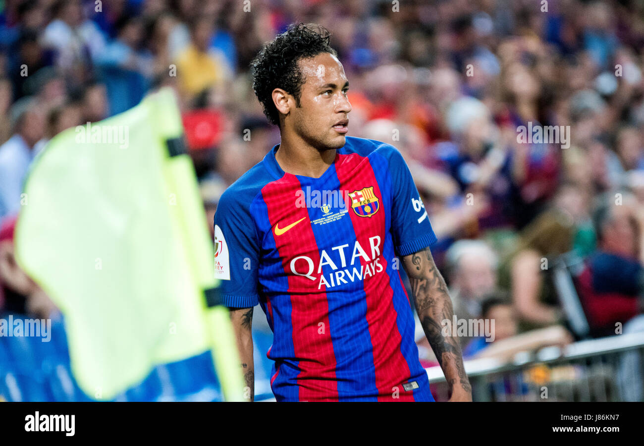 Madrid, Spain. 27th May, 2017. Neymar Jr. (FC Barcelona) during the football match of Final of Spanish King's - Stock Image