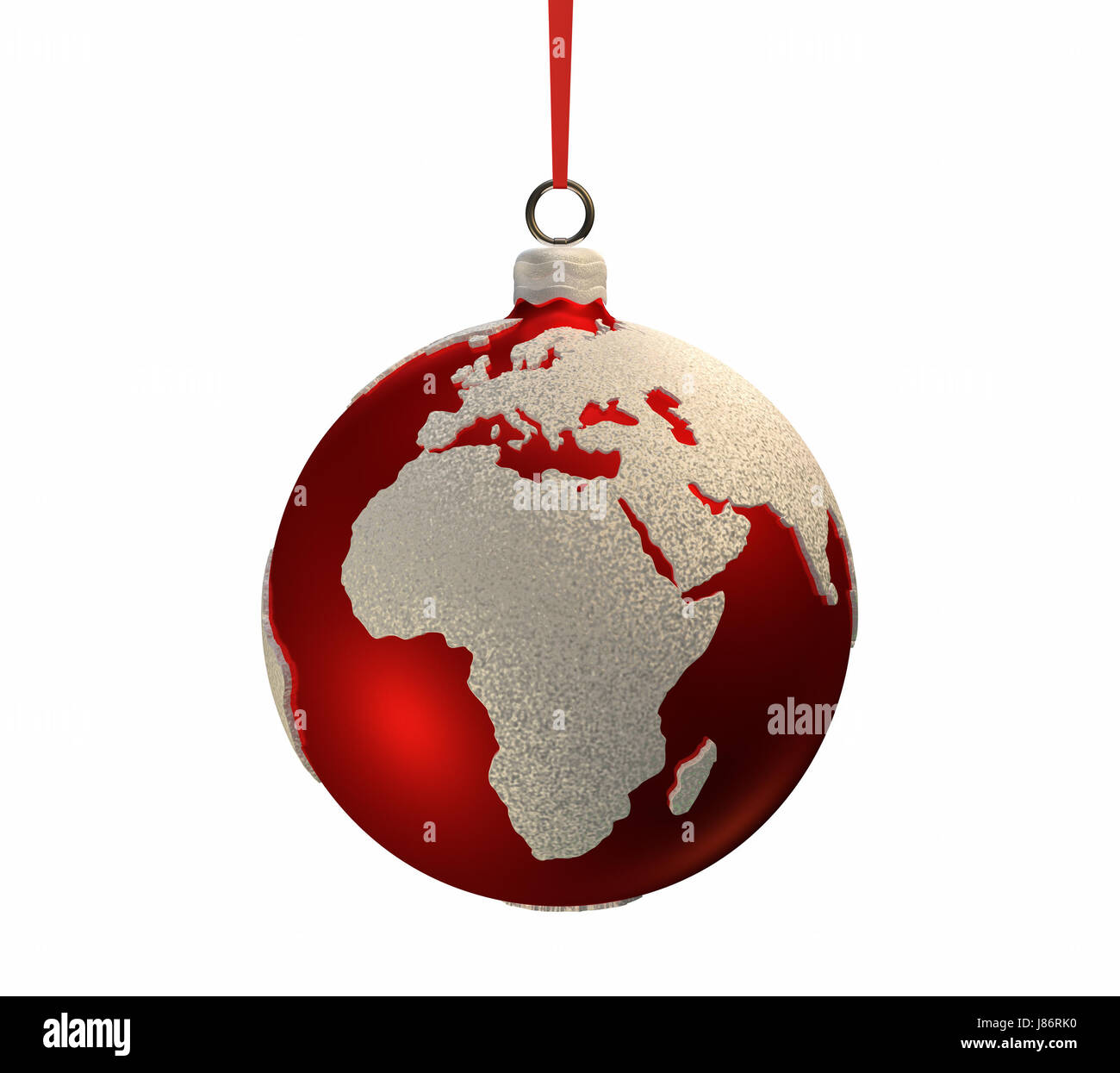 africa europe continent christmas globe planet earth world ball xmas x-mas bulb - Stock Image