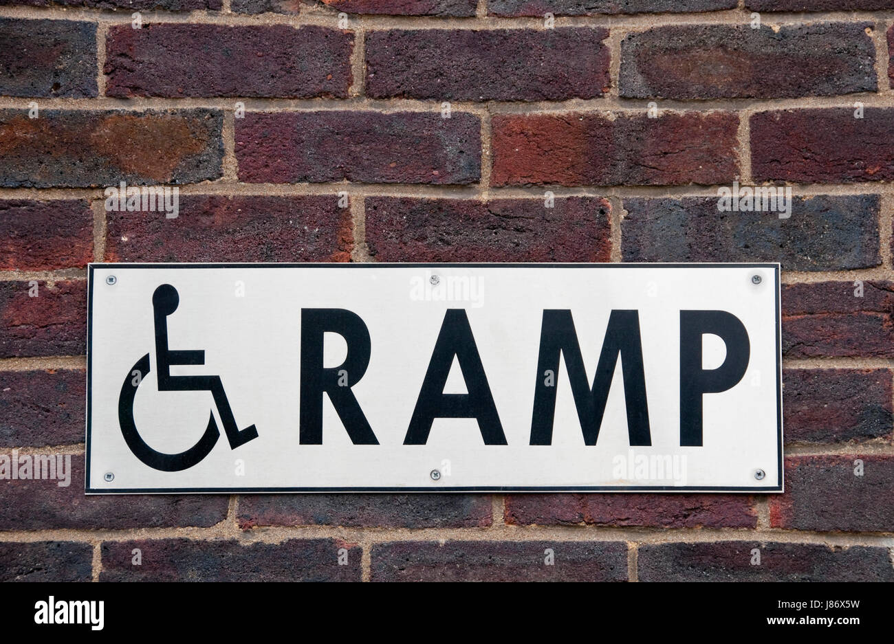 Wheelchair Ramp Handicapped Access Sign Disabled