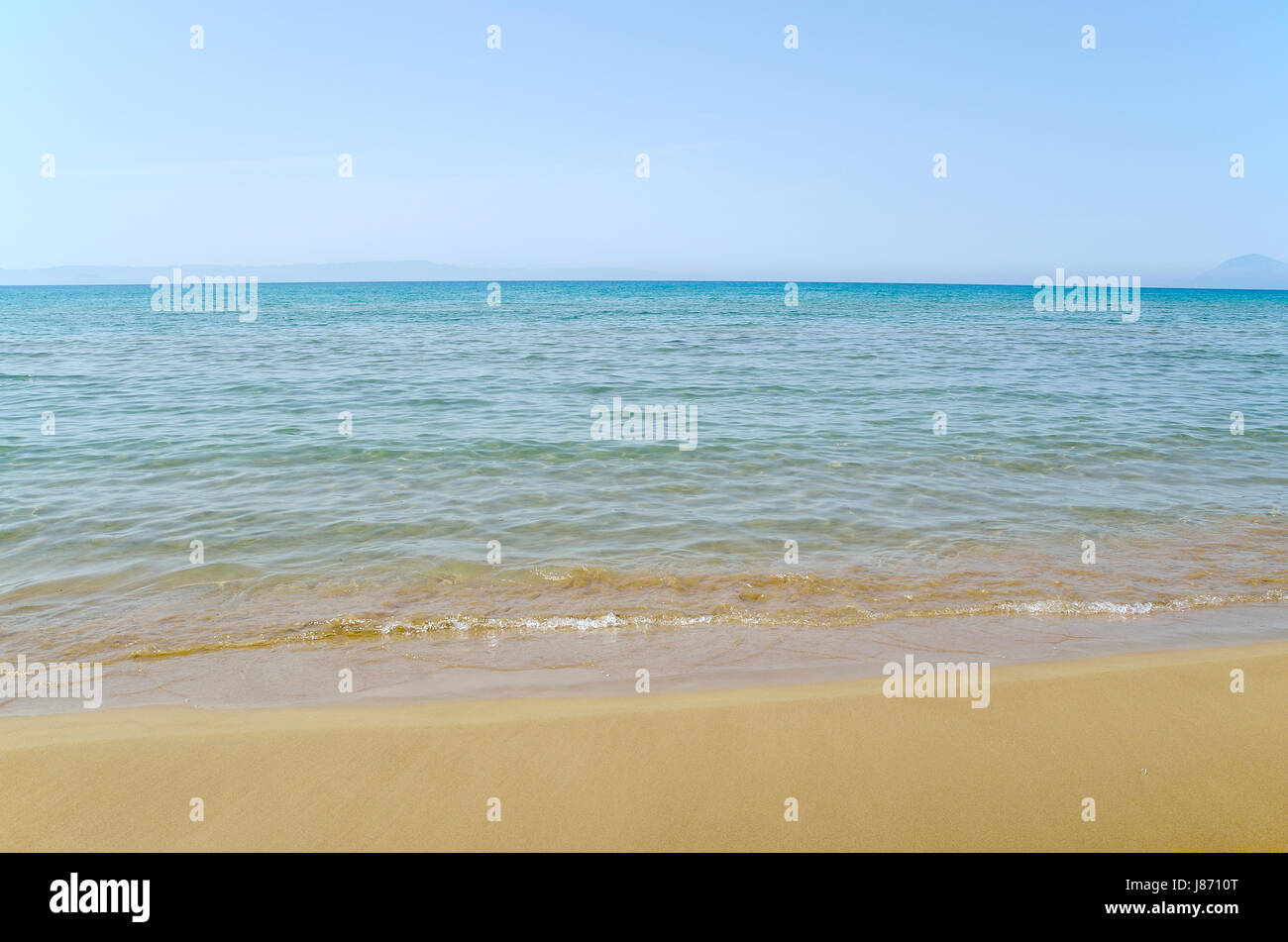 Sky ,sea and sand as background - Stock Image