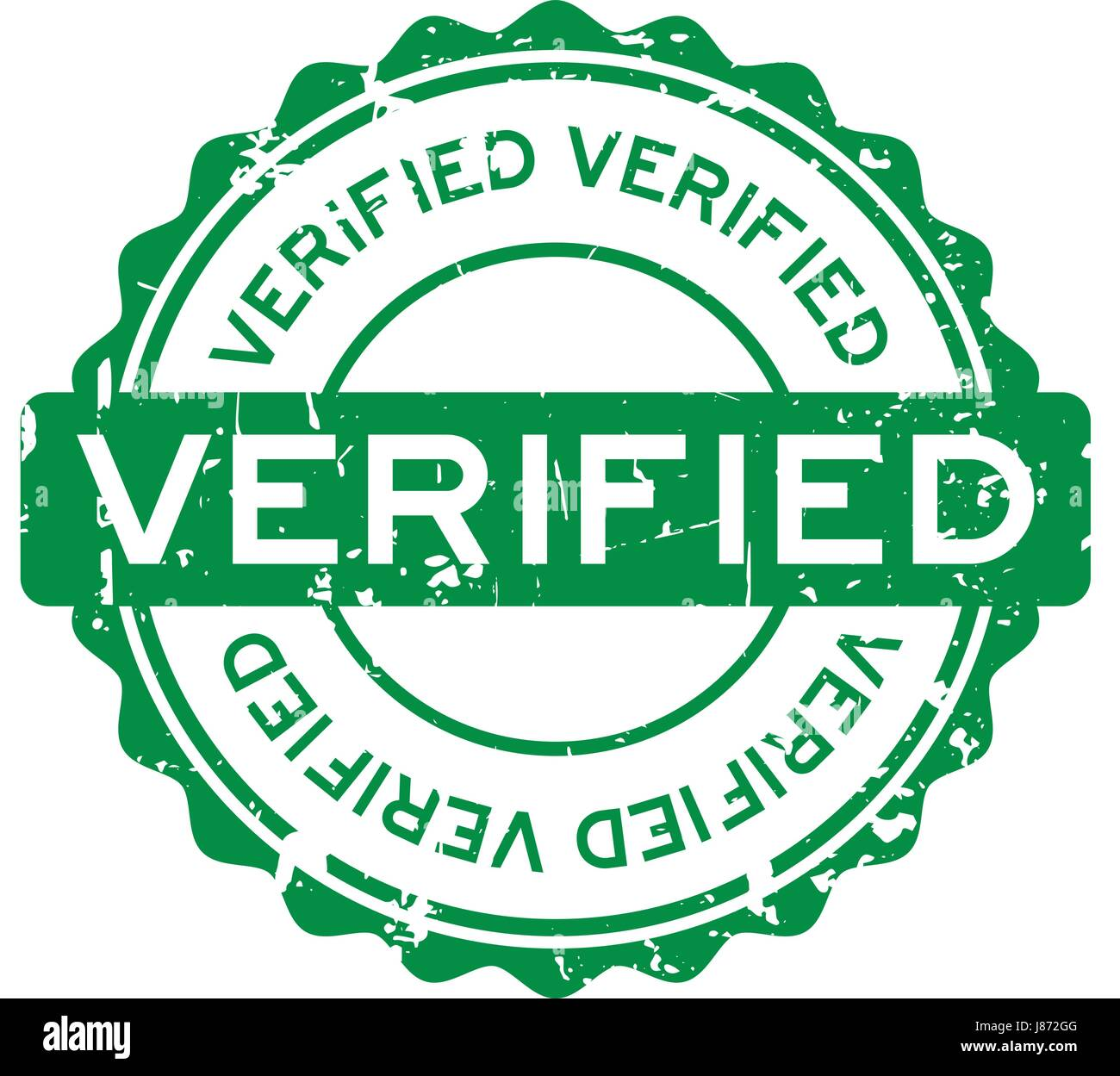 Grunge green verified round rubber seal stamp Stock Vector ...