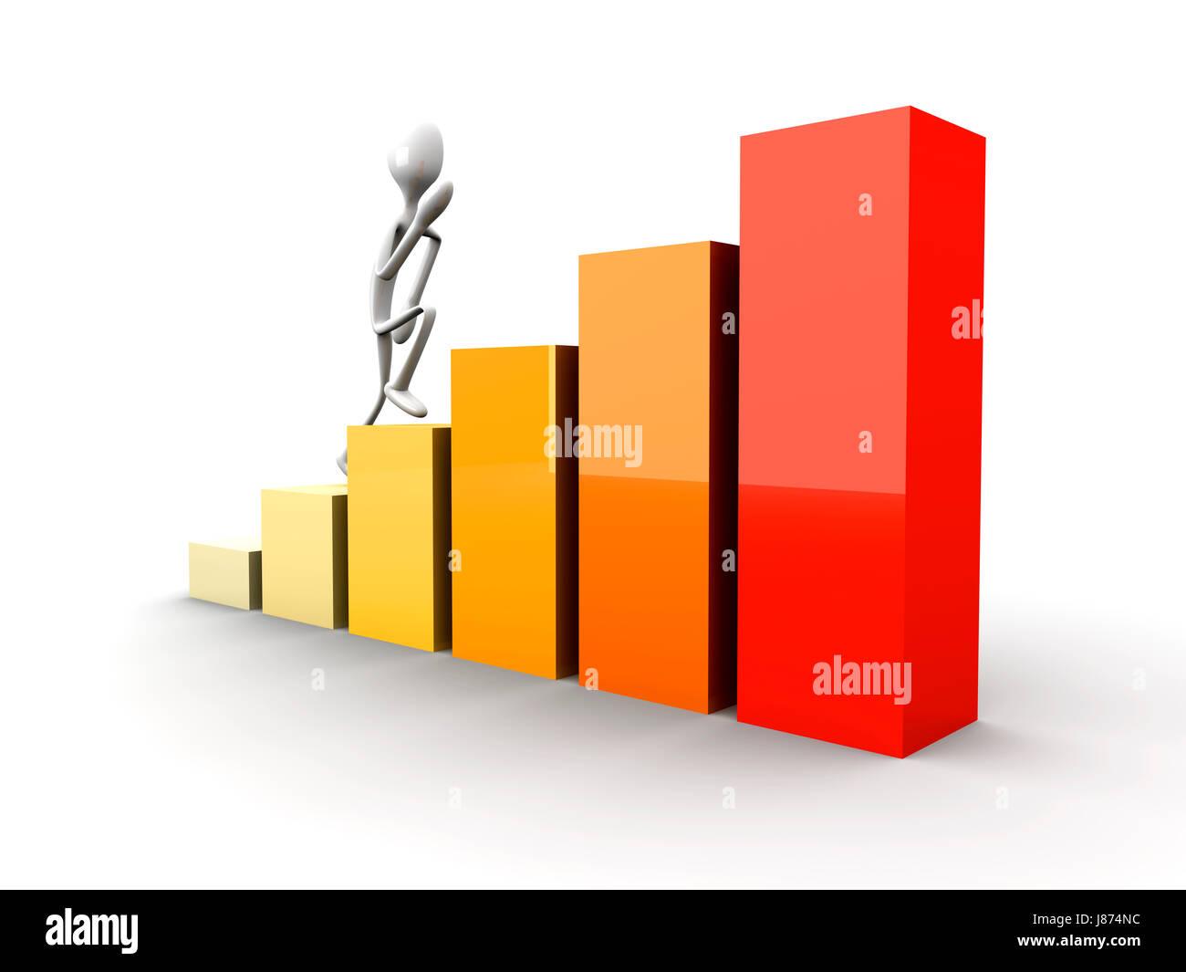 walk, go, going, walking, presentation, successful, succesful, chart, graphic, Stock Photo