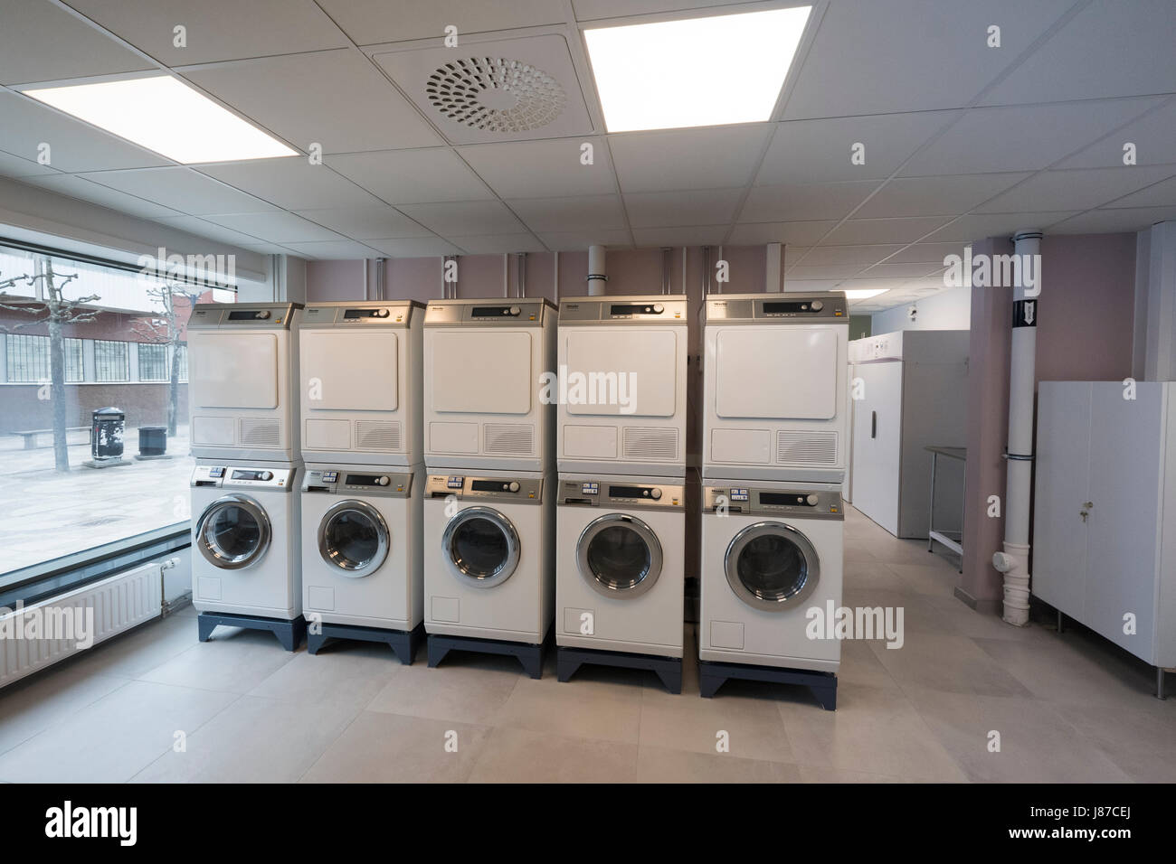 The laundry room for a apartment house, Tensta, Stockholm ...