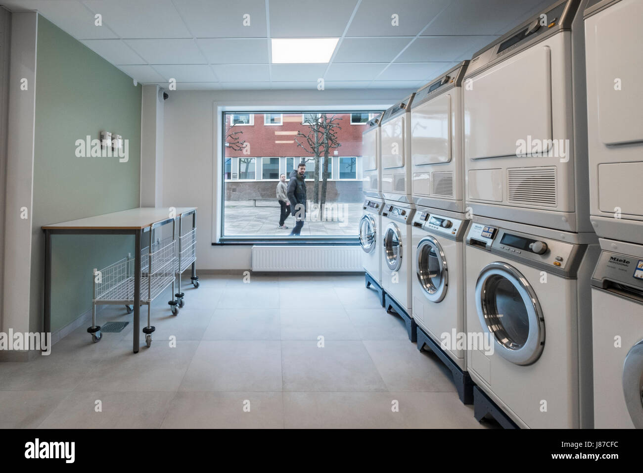 The laundry room for a apartment house, Tensta, Stockholm, Sweden ...