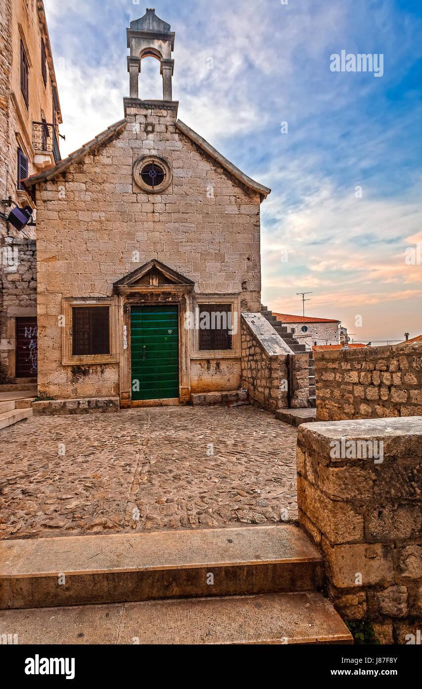 Croatia Dalmatia Sibenik  All Saints church - Stock Image