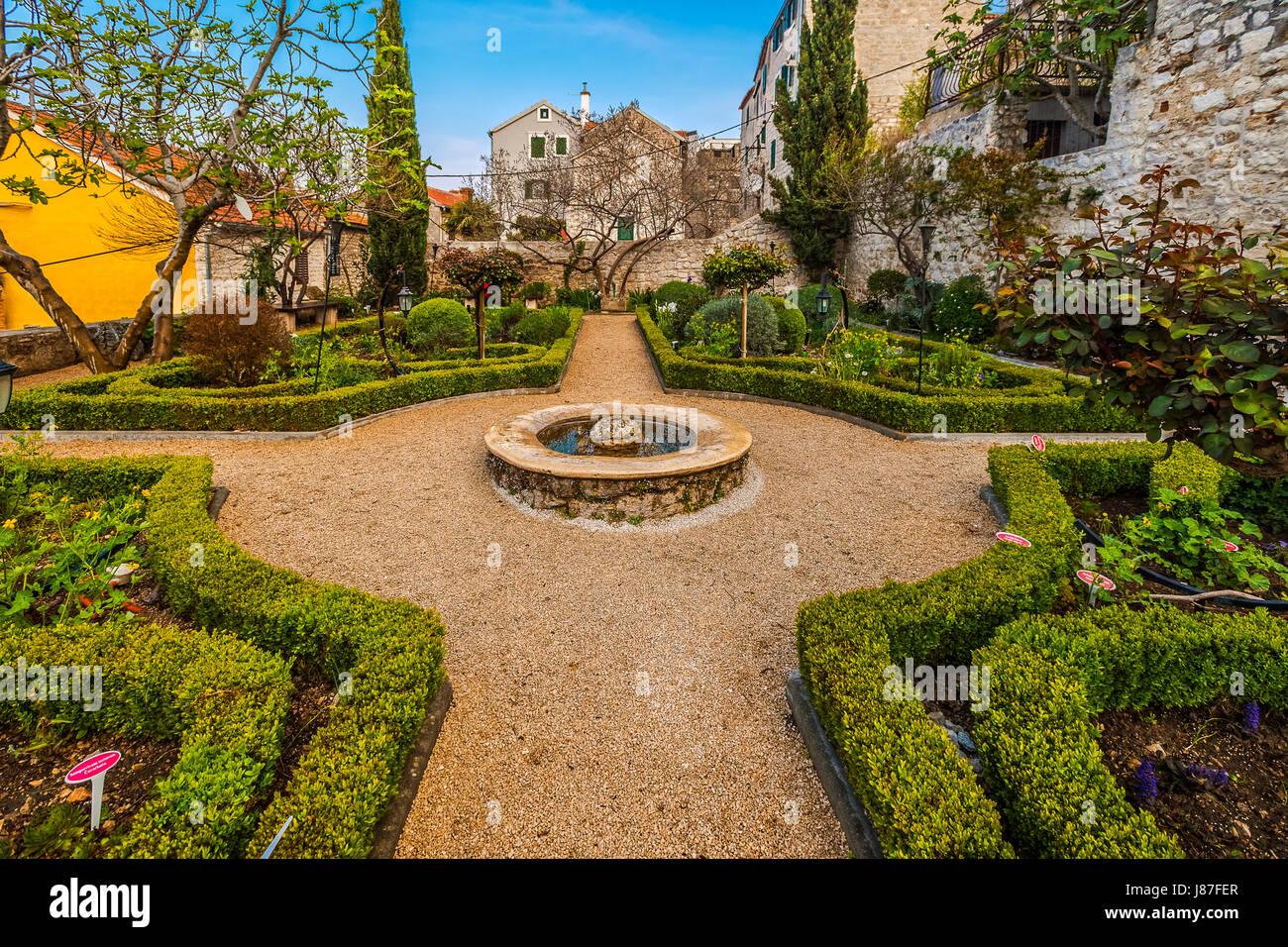 Croatia Dalmatia Sibenik - Gorica -Medieval Garden of the Convent of ...