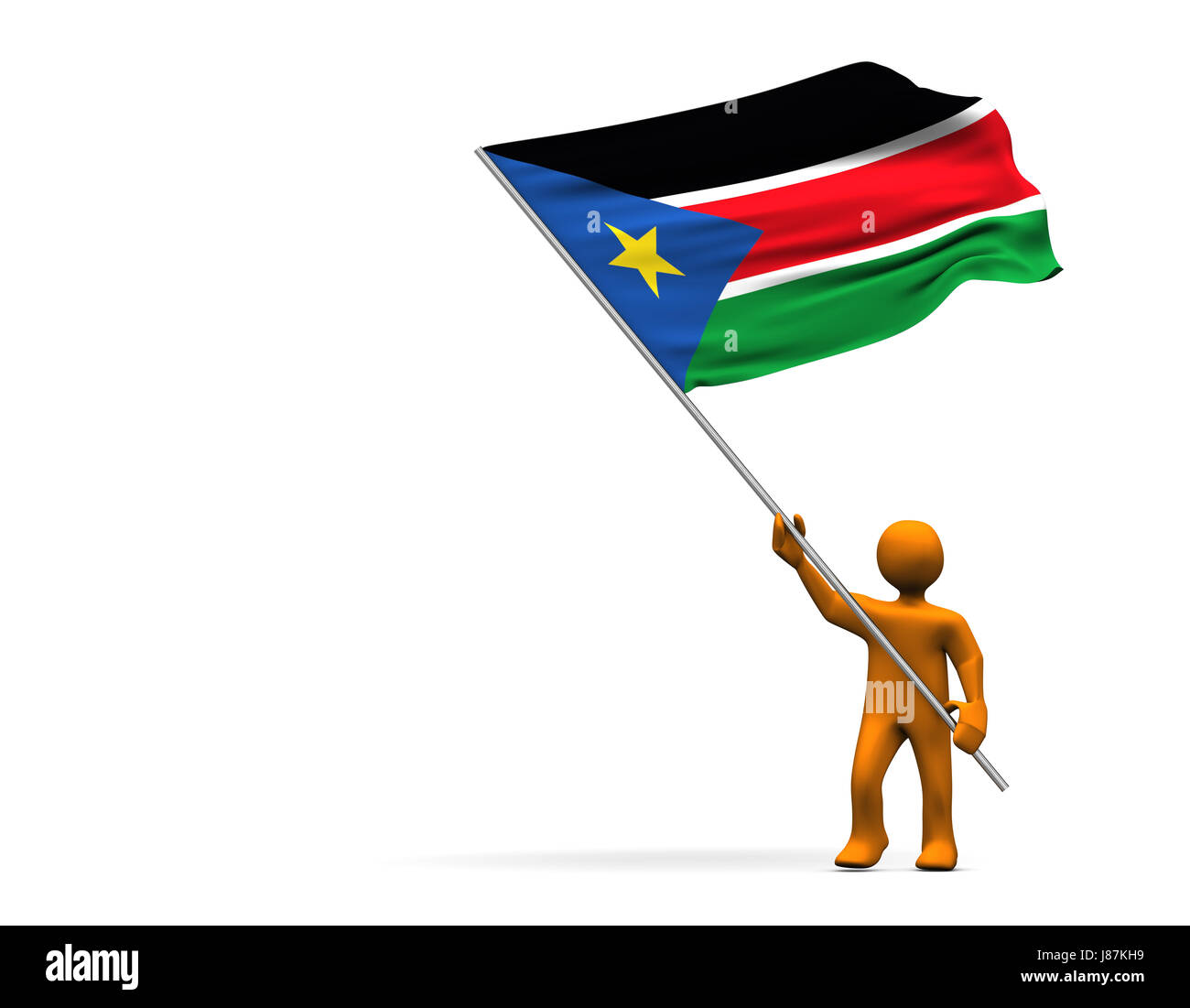 colour, africa, flag, south, color, sudan, colors, colours, sport, sports, - Stock Image