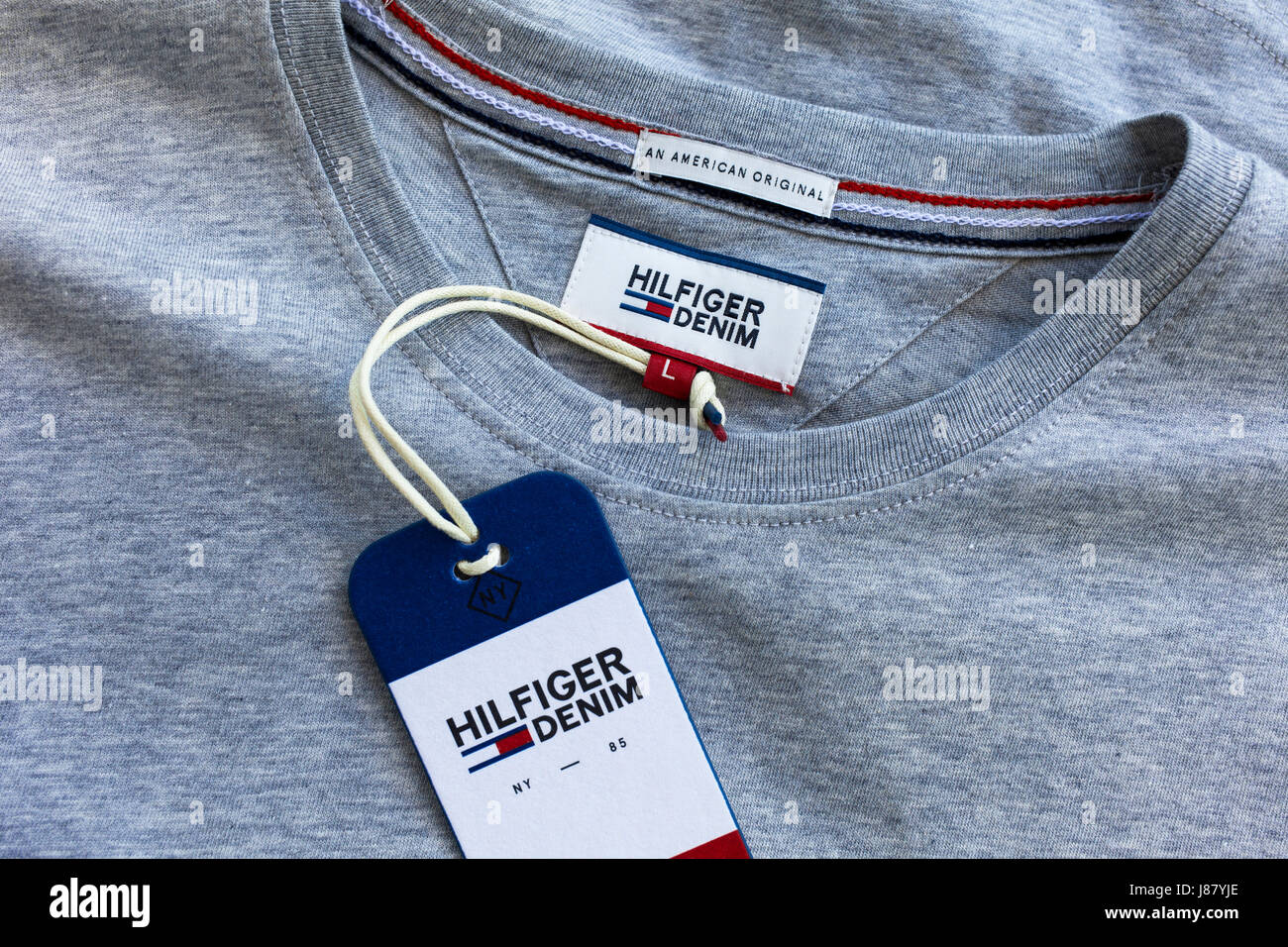 7fe43c92 A Tommy Hilfiger t.shirt Stock Photo: 142775542 - Alamy