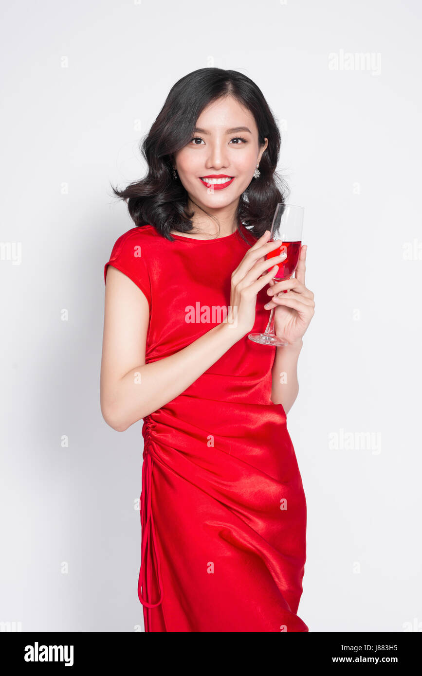 Picture asian woman wine — img 11