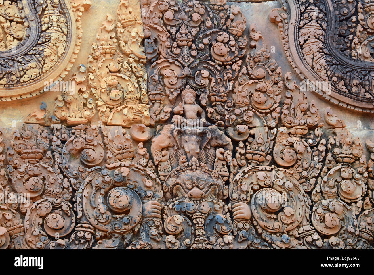 Banteay Srey Temple, Siem Reap Province, Cambodia - Stock Image