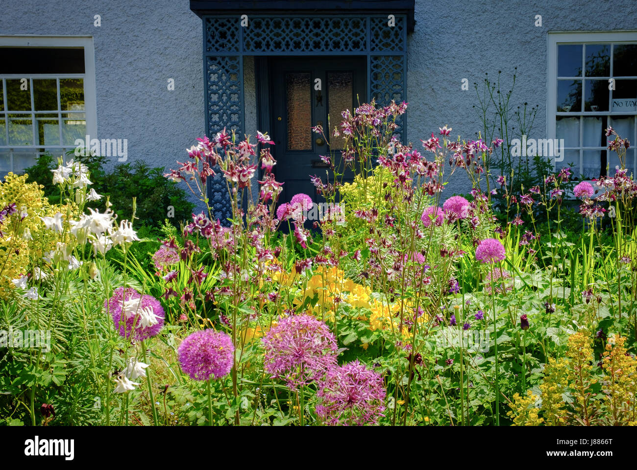 Front garden, Hay-on-Wye - Stock Image